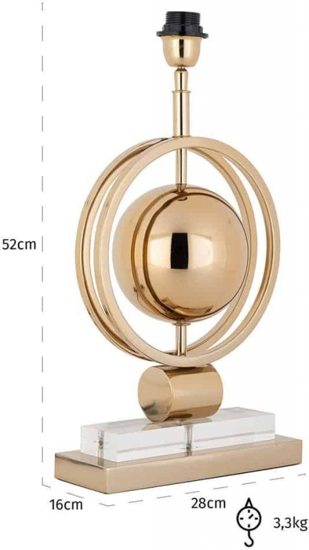 Arbela Gold Table Lamp Base
