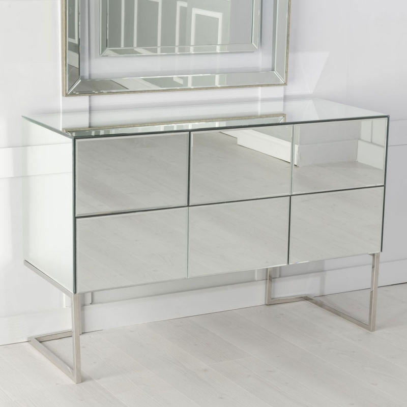 Urban Deco Fenwick Mirrored Sideboard