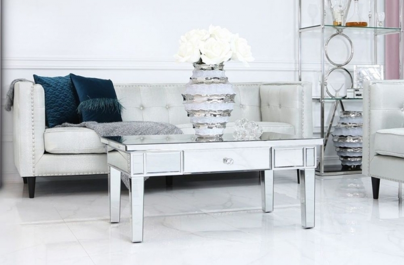 Paolo Storage Coffee Table - Mirrored
