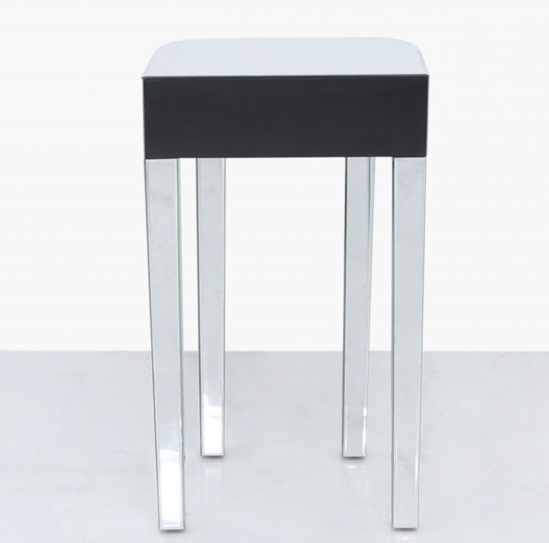 Paolo Lamp Table - Mirrored