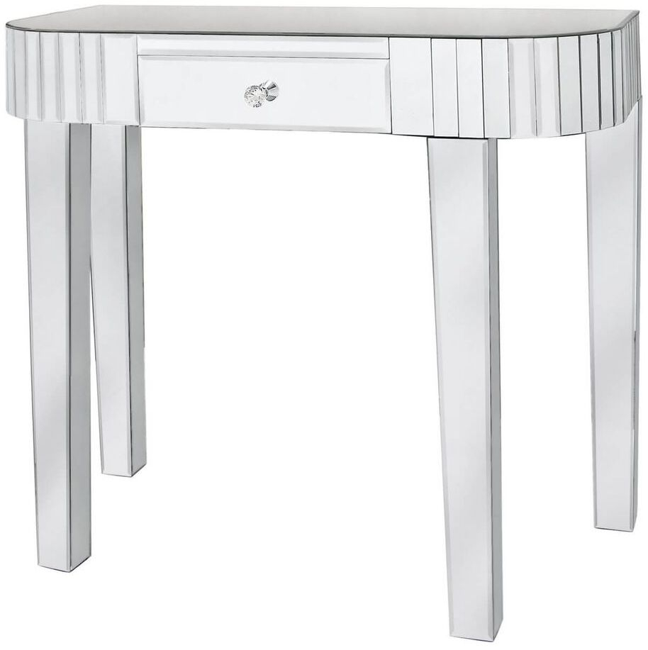 Paolo Mirrored 1 Drawer Tile Console Table