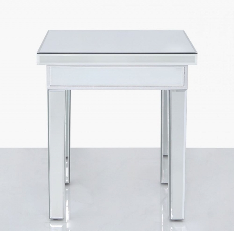 Paolo Small Lamp Table - Mirrored