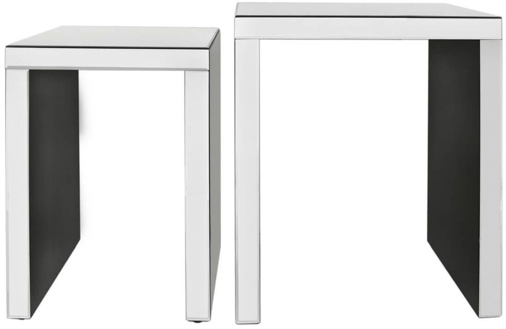 Paolo Mirrored Nest of Table