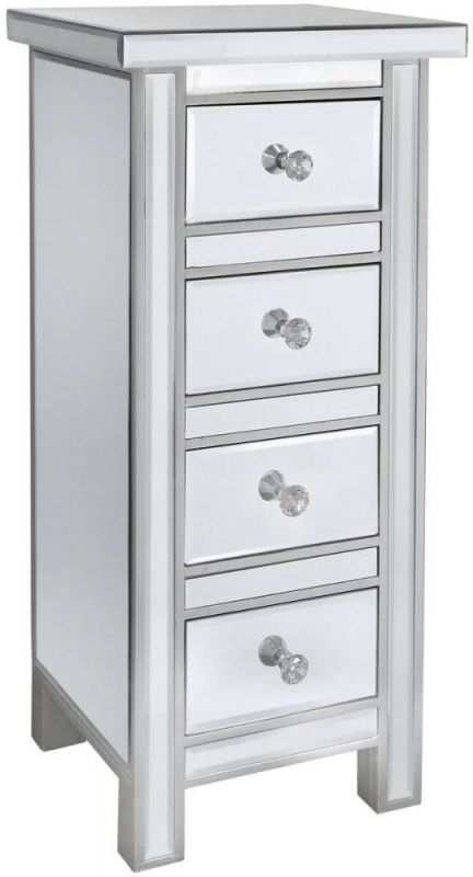 Paolo 4 Drawer Chest - Mirrored