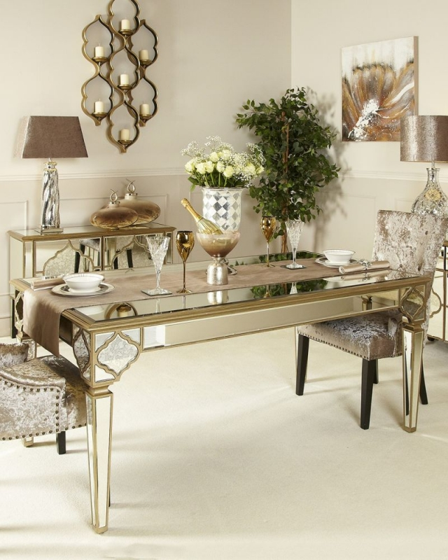 Buy Morocco Mirrored Rectangular Dining Table The Furn Shop