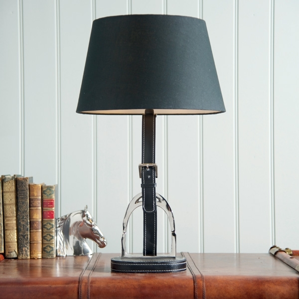 Culinary Concepts Stirrup Lamp with Black Leather