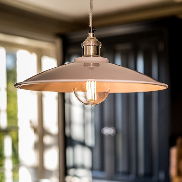 Culinary Concepts Moderne Prohibition Polished Nickel Fitment with Large Cream Shade