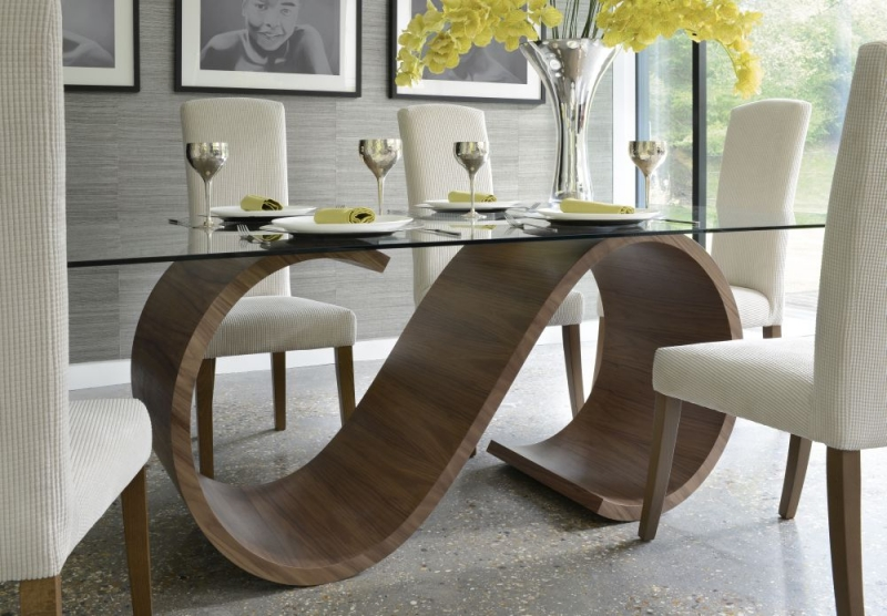 Tom Schneider Swirl Small Dining Set with 6 Poise Chairs