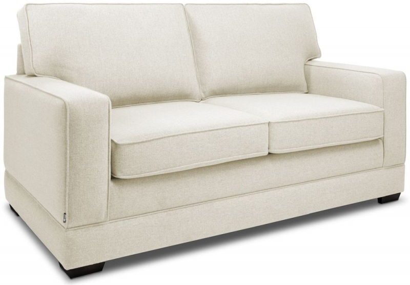 Jay-Be Modern Luxury Reflex Foam 2 Seater Fabric Sofa - Cream