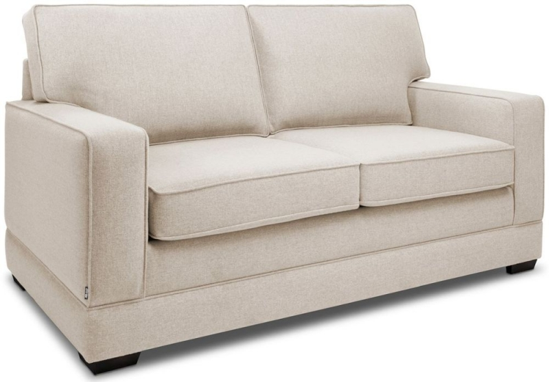 Jay-Be Modern Luxury Reflex Foam 2 Seater Fabric Sofa - Mink