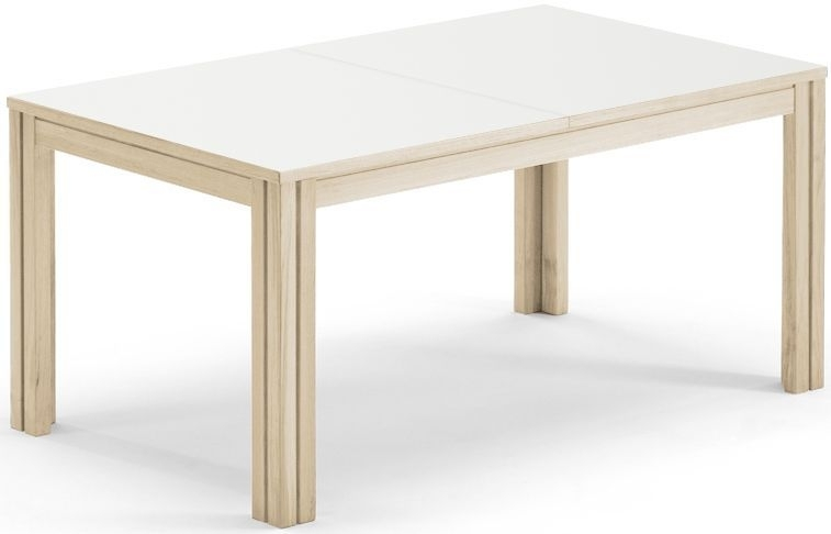 Skovby SM23 6 to 14 Seater White Laminate Top Extending Dining Table