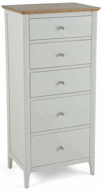 Stanford Grey Painted 5 Drawer Tall Chest