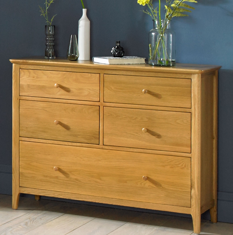 Cornett 5 Drawer Chest - Oak