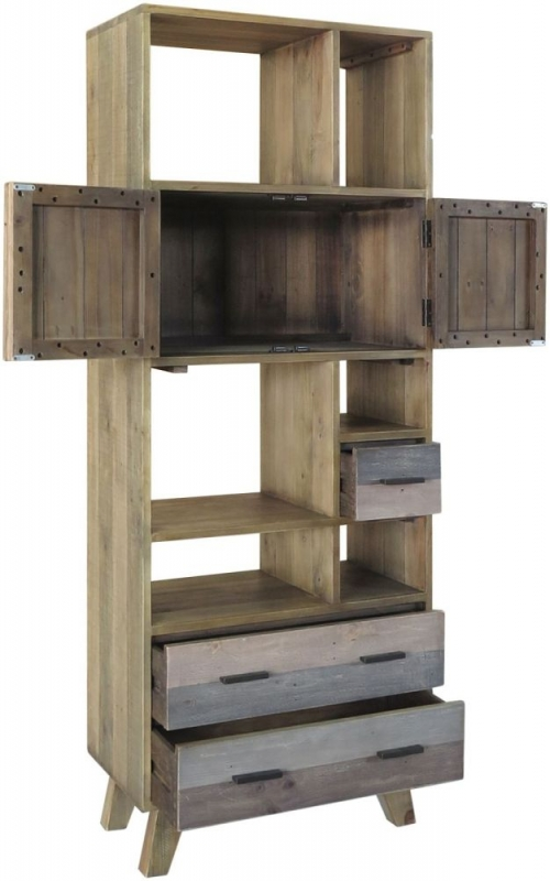 Burwell Large Display Unit - Reclaimed Pine