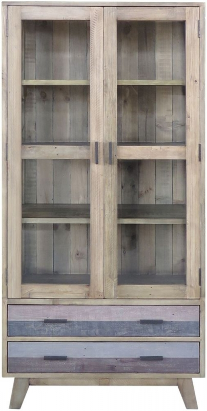 Burwell Glazed Display Cabinet - Reclaimed Pine