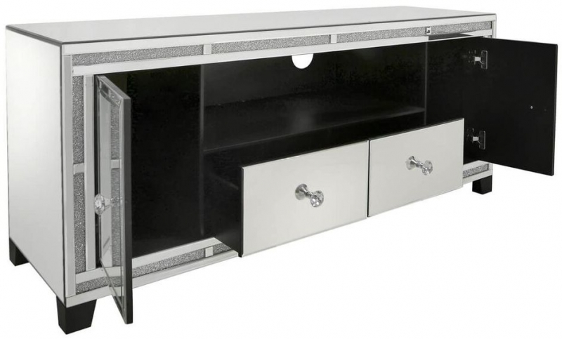 Naro Mirrored 2 Door Entertainment Unit